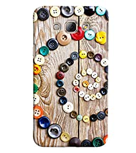 Omnam Pattern Made Of Buttons Printed Designer Back Cover Case For Samsung Galaxy A8