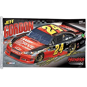 Jeff Gordon Official NASCAR 3ftx5ft Banner Flag by Wincraft by WinCraft