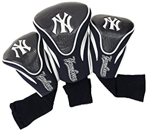 MLB New York Yankees Contour Head Cover (Pack of 3), Navy by Team Golf