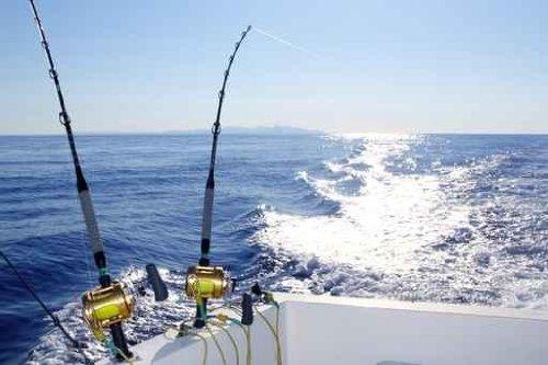 Trolling Offshore Fisherboat Rod Reels Wake Sea - 30