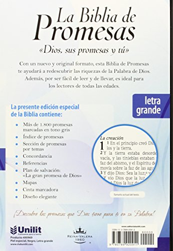 Biblia de promesas/ Promise Bible: Piel Especial Negro/ Deluxe Black