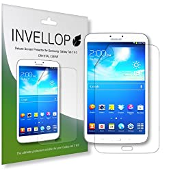 INVELLOP Samsung Galaxy Tab 3 8.0 8inch Crystal Clear HD 3-pack Screen Protectors
