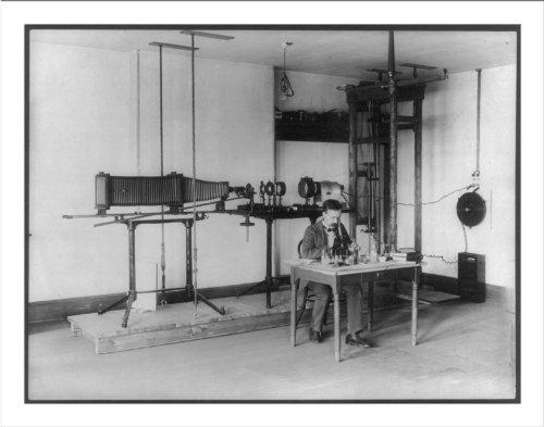 Historic Print (M): [U.S. Bureau Of Chemistry Activities, 190-: J.B. Howard In Lab, Using Microscope; Microp