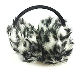 Fashion Dimensions Spotted Polar Winter Ski Fuzzy Wrap Around Ear Muffs