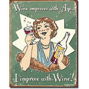 Schonberg - Wine Improved Metal Tin Sign