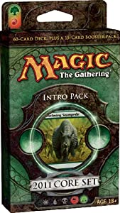 Magic the Gathering- MTG: 2011 Core Set M11 - Theme Deck - Intro Pack 5 - Stampede of Beasts (GREEN)