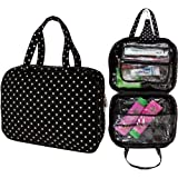 Large Black Spotty Cosmetic Bag Make Up Case Hangin