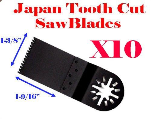 Pack Of 10 Japan Tooth Fast Cut Oscillating Multi Tool Saw Blade For Fein Multimaster Bosch Multi-X Craftsman Nextec Dremel Multi-Max Ridgid Dremel Chicago Proformax Blades