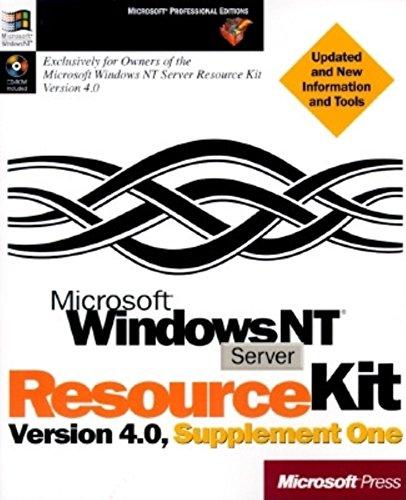 Microsoft Windows NT Server 4.0 Resource Kit (Microsoft Professional Editions) (Windows Nt Resource Kit compare prices)