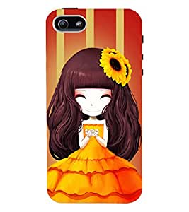 Fuson 3D Printed Girly Designer back case cover for Apple I Phone 5 / 5S - D4345