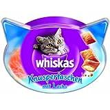 Whiskas Snacks Knuspertaschen mit Lachs, 4er Pack (4 x 60 g)