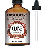 Clove Leaf Essential Oil 4 fl. oz. With a Glass Dropper - 100% Pure and Natural Clove Oil Extracted from leaves with Premium Quality & Therapeutic Grade