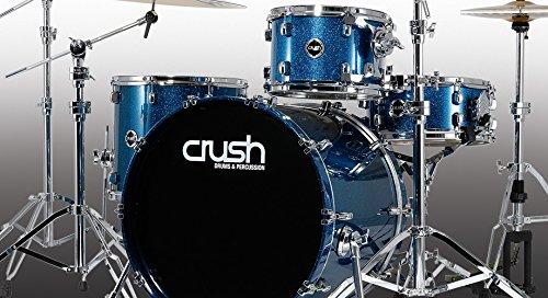 Crush Drums & Percussion S3M465-608 4-Piece Drum Shell Pack, Deep Blue Sparkle