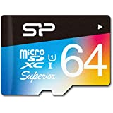 Silicon Power 64GB R/W 90/45MB MicroSDXC UHS-1 Class 10, Superior Flash Memory Card with Adaptor (SP064GBSTXDU1V20SP)