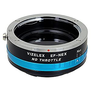 Fotodiox NDThrtl-EOS-NEX Vizelex ND Throttle Lens Adapter from Pro, EOS EF/EF-s Lens to Sony E-Mount with Built-In Variable ND Filter ND2-ND1000 (Black) from Fotodiox Inc.