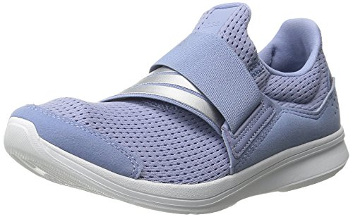 Adidas Performance Women's Lite Slip-On Running Shoe,Prism Blue/Silver/White,10.5 M US