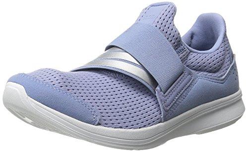 Adidas Performance Women's Lite Slip-On Running Shoe,Prism Blue/Silver/White,8.5 M US