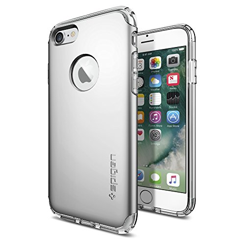 iPhone-7-Case-Spigen-Hybrid-Armor-AIR-CUSHION-Satin-Silver-Clear-TPU-PC-Frame-Slim-Dual-Layer-Premium-Case-for-Apple-iPhone-7-042CS20694
