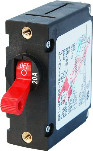 Blue Sea 7213 AC / DC Single Pole Magnetic World Circuit Breaker - 20 Amp