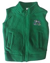 Notre Dame Fighting Irish NCAA Infant Toddler Fleece Zippered Vest (3 Toddler)