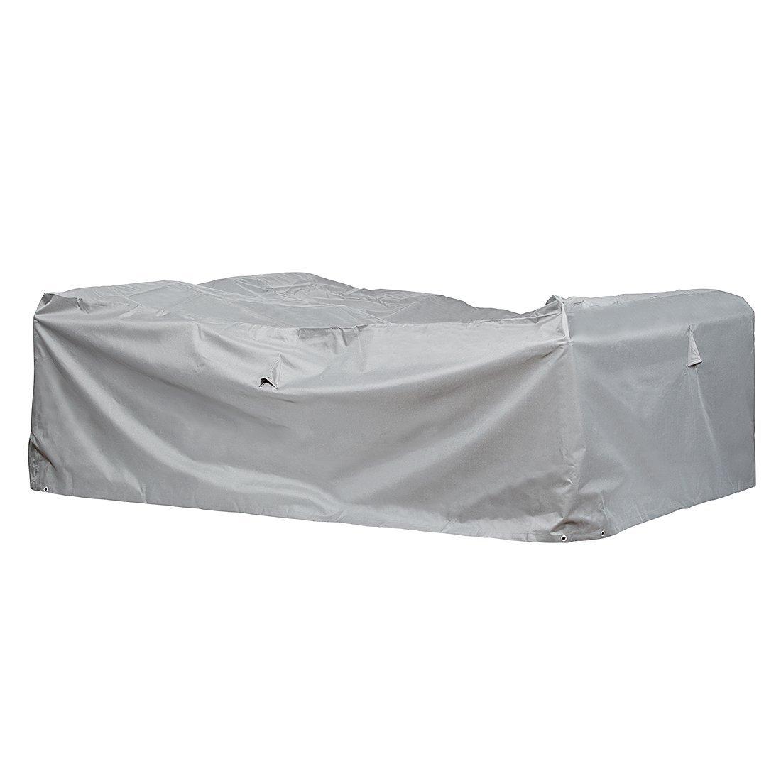 Premium Schutzhülle für Loungegruppe/Sitzgruppe aus Polyester Oxford 600D – lichtgrau – von 'mehr Garten' – Größe L (230 x 165 cm) günstig