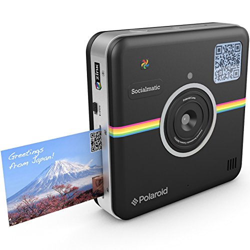 Polaroid Socialmatic 14MP Wi-Fi Digital Instant Print & Share Camera – Share on Socialmatic PhotoNetwork, Facebook, Instargram, Twitter & More – Black