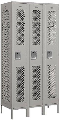 Salsbury Industries 71368GY-U Single Tier 3-Inch Wide 6-Feet High 18-Inch Deep Unassembled Vented Metal Locker, Gray