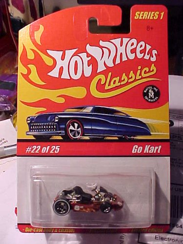 HOT WHEELS CLASSICS from 2004 * GO KART * #6 on side and rust-orange in color * See picture> - 1