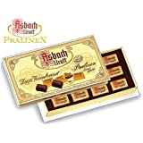 Asbach Uralt Brandy Filled Chocolate Squares with Sugar Crust in Small Gift Box - 125g/4.4oz