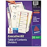 Avery Ready Index Table of Contents Dividers Executive Kit, 5-Tab Set (11275)