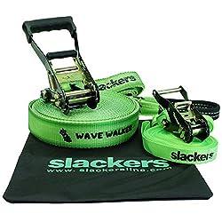 Brand 44 Slackers Wave Walker Slackline Toy, Green, 50'