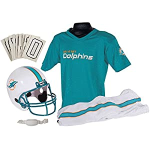 Franklin Sports NFL Miami Dolphins Deluxe Youth Uniform Set, Small