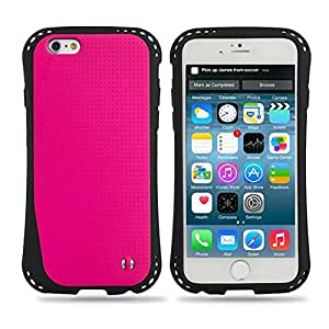 "M-Zebra Deluxe Fashion Print Hard Soft High Impact Hybrid Armor Defender Case Combo for iPhone 6 4.7"",with Screen Protectors+Stylus(Black)+Cleaning Cloth (TPU Rose Red)"