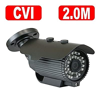 GW Security HD Megapixel HD-CVI Outdoor/ Indoor Security Camera System with Pre-Installed Hard Drive - High Resolution Long Distance Transmit Range
