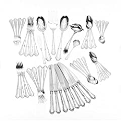 Wallace Italian Sterling Barocco 46-Piece Sterling Silver Flatware Set, Service for 8