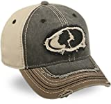 Mossy Oak Casual Frayed Look Black / Brown Khaki Cap