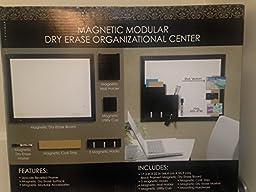 Mega Brands Magnetic Modular Dry Erase Organizational Center, All-in-One Dry Erase Board Value Pack