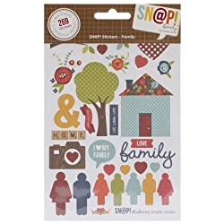 Simple Stories Snatp Stickers Sheets, 4 by 6-Inch, Family, 4-Pack