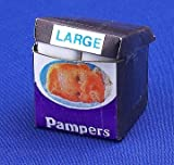 12th Scale Dolls House Nursery Accessory - Pampers Nappy Box