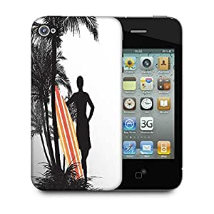 Snoogg Tropical Illustration Designer Protective Back Case Cover For Apple Iphone 4