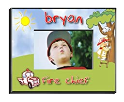 Personalized Fireman Picture Frame