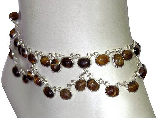 Beaded Anklet Foot Jewelry In Sterling Silver