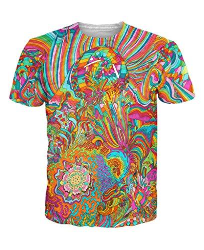 Infinite Bit Future Visions T-Shirt – Premium All Over Print Graphic Shirts – Small
