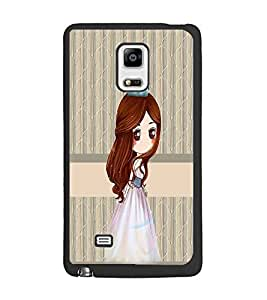 PrintDhaba Princess Doll D-3841 Back Case Cover for SAMSUNG GALAXY NOTE EDGE (Multi-Coloured)