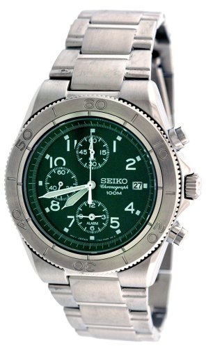 Seiko Men's Chronograph Alarm Watch Model SNA537P1