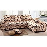 Imported 190-230cm 3Seats Sofa Couch Protector Elastic Slipcover Bird Nest Pattern