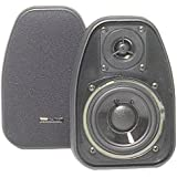 "BIC AMERICA DV-32B 3 1/2"" 2-Way Compact Shielded Speakers - Black"