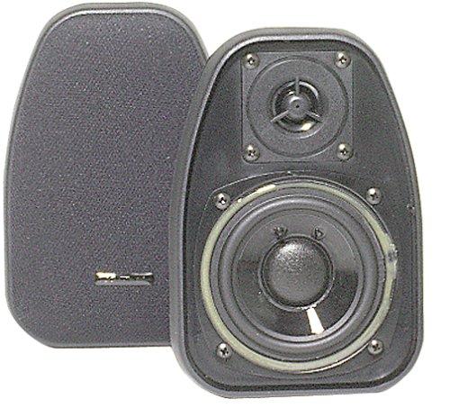 "Bic America Dv-32B 3 1/2"" 2-Way Compact Shielded Speakers - Black"