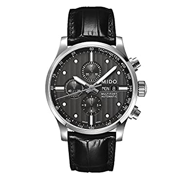 Mido Men's MIDO-M0056141606100 Multifort Analog Display Swiss Automatic Black Watch