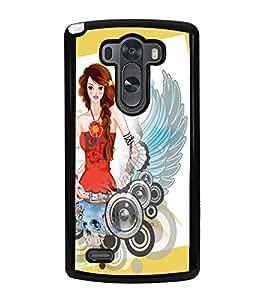 Fuson Cute Girl Back Case Cover for LG G3 - D3626